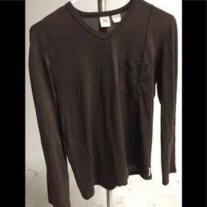 Brown Armani Exchange shirt